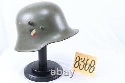 Casque De L'armée Allemande De La Période De Transition De La Seconde Guerre Mondiale Avec Bouclier Peint Tricolore