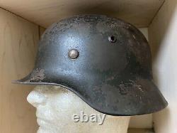 Casque De L'armée Allemande M35 De La Deuxième Guerre Mondiale Avec Liner (republié)