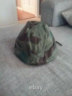 Casque De L'armée Allemande Ww2 Avec Waffen Ss Camo Cover Reproduction