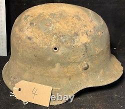 Casque Original De Wehrmacht De L'armée Allemande De Relique De Ww2 #4
