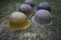 Casques De Type Allemand Seconde Guerre Mondiale Pour L'armée Bulgare Ally Allemand 5 Pièces Livraison Gratuite