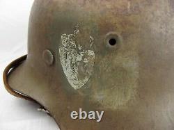 Circa Ww2 Allemand Made Norvégien M42 Casque