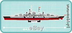 Cobi Battleship Bismarck / 4810/1974 Blocs Navire Allemand Seconde Guerre Mondiale Petite Armée