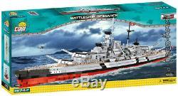 Cobi Battleship Bismarck / 4810/1974 Bloque Les Jouets Seconde Guerre Mondiale Petite Armée De Navire Allemand