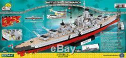 Cobi Battleship Bismarck / 4810 A / 1974 Blocs Seconde Guerre Mondiale Petite Armée Navire Allemand