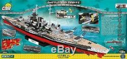 Cobi Battleship Tirpitz / 4809/1982 Bloque Jouets Seconde Guerre Mondiale Petite Armée De Navire Allemand