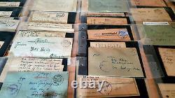 Collection Successorale 80+ German Fieldpost Letters & Postcards 1912 51 Ww1 Ww2 Wk1