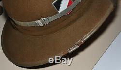 Corps Allemand Seconde Guerre Mondiale D'origine Afrique Moelle Armée Casque / Hat. Achevée. Withcert Auth