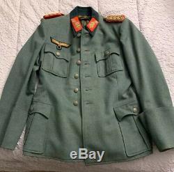D'origine Allemande Seconde Guerre Mondiale Heer (armée) Brigadier Uniforme / Tunique Général