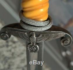 De La Seconde Guerre Mondiale L'armée Nazie Allemande Heer Officier Robe Dagger