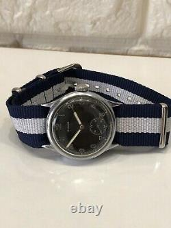Dh German Military Bulla Vintage Wwii Wrist Army Watch Cal. As1130