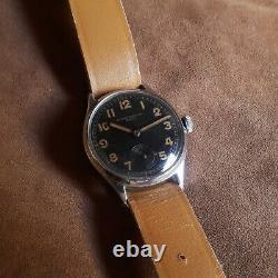 Dh Record Watch Co 022 K Wrist Suisse Armée Militaire Allemande Ww II 2 1940 Pour Les Hommes