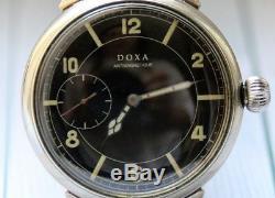 Doxa Style Militaire Seconde Guerre Mondiale Armée Allemande 1939 1945 Montre-bracelet Vintage Suisses