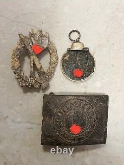 Ensemble Allemand Original De Ww2 D'insigne D'infanterie Boucle De Ceinture Orientale Fr Reliques De Médaille