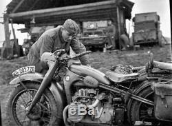 Ensemble De L'armée Allemande Ww2 Motos Wehrmacht Métal Plaque D'immatriculation Réplique Custom