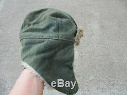 Fourrure De Lapin D'hiver D'origine Seconde Guerre Mondiale Armée Allemande Chapeau