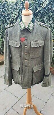 Genuine Ww2 Wk2 Allemand Feldgendarmerie Veste Tunic M35 Troisième Reich Police De Terrain