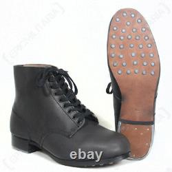 German Combat Low Boots Ww2 Repro Army Military Hobnail Leather Toutes Tailles Neuves