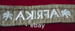 German World War II Army Afrika Officers Cuff Title (authentique)