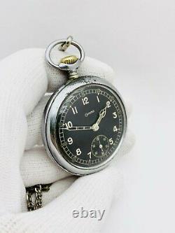 Grana Pocket Watch Rare Military Dh Armée Allemande Swiss Vintage Watch 1940s Wwii