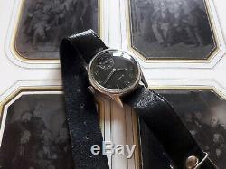 Grana Suisse Montre-bracelet Dh Armée Allemande Des Années 1940 II 2 Noir Ww Militaire Dial Pour Les Hommes
