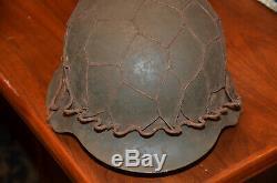 Guerre Mondiale 2 Armée Allemande / Heer M42 Combat Helmetwith Demi Wire Basket