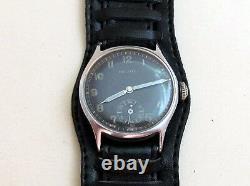 Helios Dh D30414h Seconde Guerre Mondiale Suisse Pour L'armée Allemande Wehrmaht Montre-bracelet Militaire P300