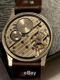 Helios Dh Militaire De L'armée Allemande Wristwatch Wehrmacht Seconde Guerre Mondiale Fonctionne Très Bien