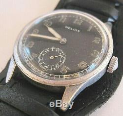 Helios Dh Wristwatch Armée Allemande Wehrmacht De La Période Seconde Guerre Mondiale. Militaire