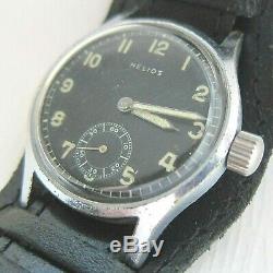Helios Dh Wristwatch Armée Allemande Wehrmacht De La Période Seconde Guerre Mondiale. Militaire. Californie 1130