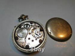 Helvetia D. H. Dienstuhr Heer Militäruhr Armée Allemande Ww2 Military Pocket Watch