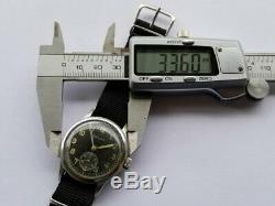 Helvetia Dh Swiss Cal. 82a Seconde Guerre Mondiale Guerre Armée Allemande Pilote Militaire Noire Montre-bracelet