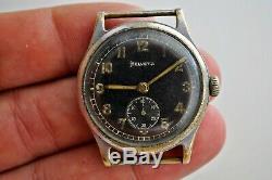 Helvetia Rare Wehrmacht Armée Allemande Seconde Guerre Mondiale 1939-1945 Vintage Military Watch Suisse