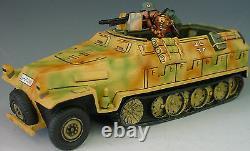 King & Country Ww2 Armée Allemande Ws013 S Été Hanomag Half Track Set Mib
