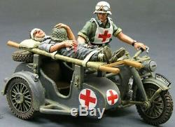 King & Country Ww2 Armée Allemande Ws097 Evacuation Médicale Motorcycle Set Sib