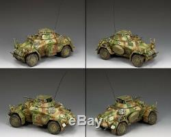 King & Country Ww2 Armée Allemande Ws210 Sd. Kfz. 222 Armored Car Set Normandie Mib