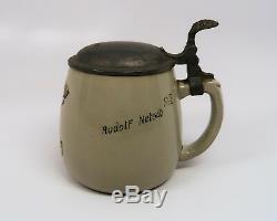 L'ancienne Armée Allemande Seconde Guerre Mondiale Heer Chope De Bière En Céramique Stein Ww1 Gebirgsjäger 0.5l Wehrmacht