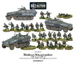 L'armée De 28mm Warlord Allemand Blitzkrieg Panzer Grenadiers. Action Seconde Guerre Mondiale Bolt