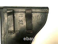 Luger P08 Mauser Seconde Guerre Mondiale Armée Allemande Holster 1940 Jhk P. 08 Et Aigle Waa280 Originale