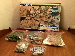 Marx Battleground Unused Play Set # 4756 Seconde Guerre Mondiale Armée Allemande Américaine De Nice 1970