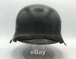 Nommé Ww2 Casque Allemand Kia W Histoire Wwii Armée M42 Originale