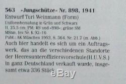 Nymphenburg Soldat Allemand Figure En Uniforme Noir De L'armée Seconde Guerre Mondiale 1941