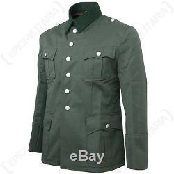 Officiers De L'armée Allemande Gabardine Laine Tunique Ww2 Repro Heer Veste Uniformes