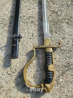 Officiers De L'armée Allemande Ww2 Épée Avec Lions Head Collection Militaire
