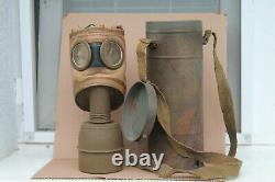 Old Original Rare Made Allemand/français Relic Gas Masque Wwi Wwii Armée