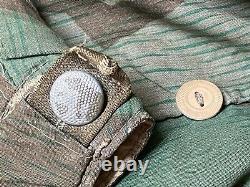 Original Allemand Army Ww2 Réversible Splinter Pattern Hiver Parka