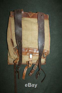Original Late Ww2 Armée Allemande M34 Poney Fur Back Pack Withstraps 1944 Daté