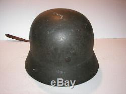 Original Vintage Untouched Liner Aluminium Casque Allemand Ww2 Armée Voir Pic