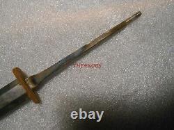 Original Ww II Wkc Officiers De L'armée Allemande Robe Dagger Metal Blade