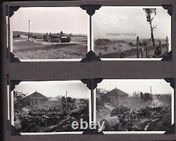 Original Ww2 Album Photo Allemand Union Soviétique Panzers Stug Pows Refugees Tanks